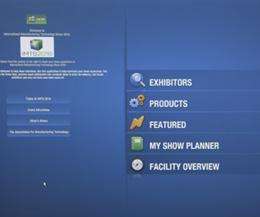 MyShow Kiosk button menu.