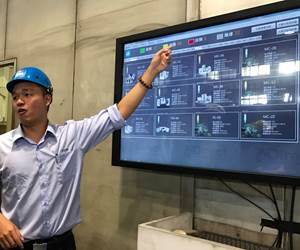 Interactive Wall Illustrates YCM's Approach to Industry 4.0