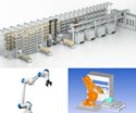 collage of robots and automation products and software