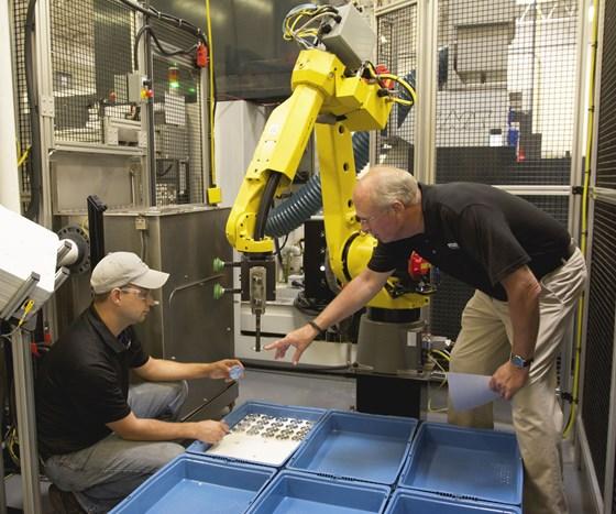 Manufacturing employees at Staub Machine Co.