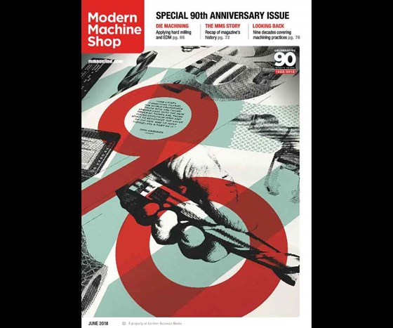 June 2018 cover of Modern Machine Shop