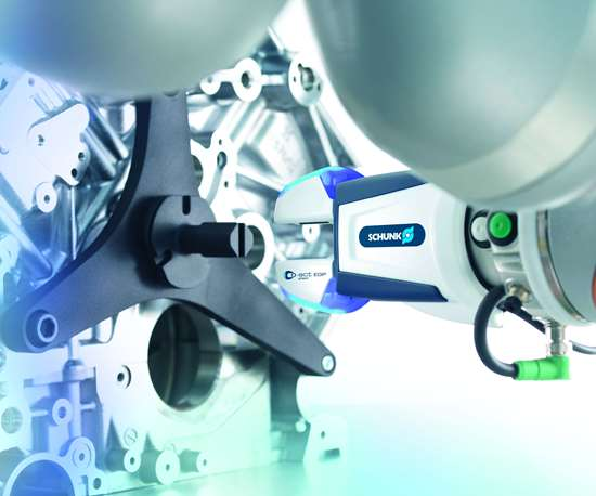 Cobot with Schunk Co-act gripper