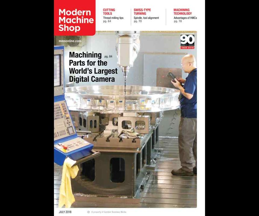 Modern Machine Shop July 2018 cover.
