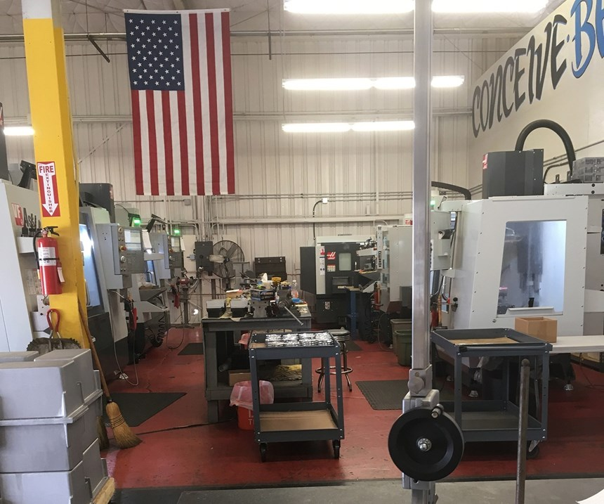 The machine shop at Rise Up Industries.