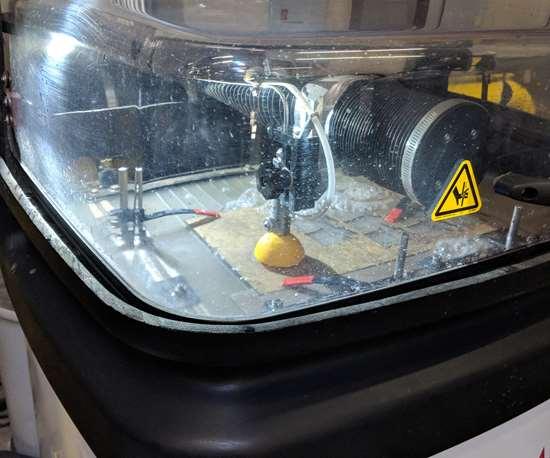 Demonstration of Protomax personal waterjet machine