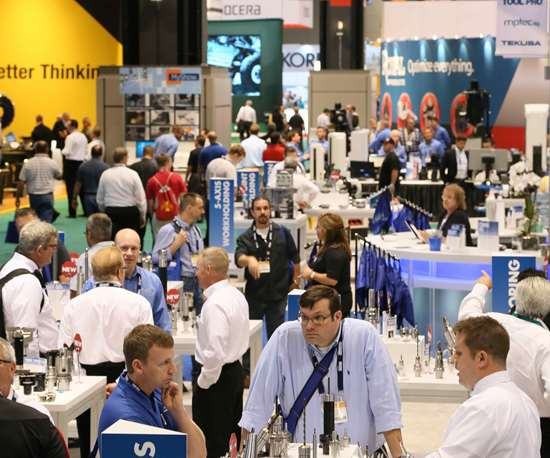 crowded show floor at IMTS