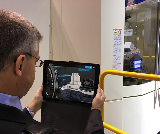 makino augmented reality at imts