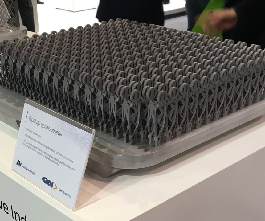 plate full of additive manufactured parts