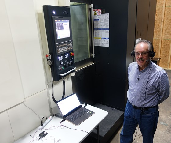 Demonstration of voice command of makino CNC machine using athena