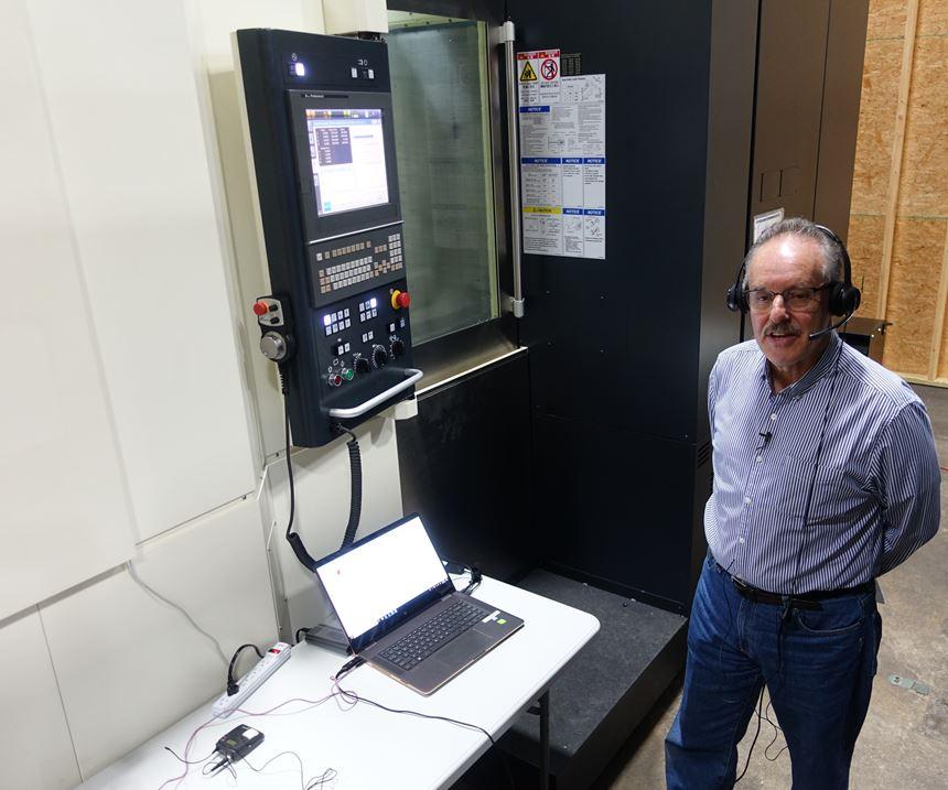 Demonstration of voice command of makino CNC machine using athena