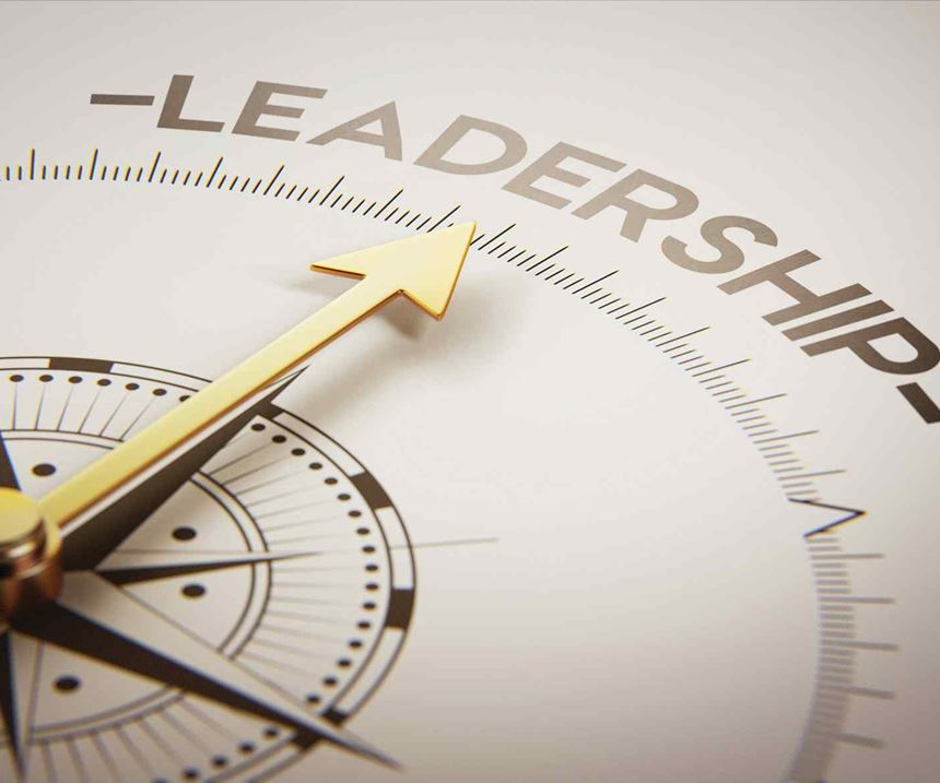 compass pointing toward leadership