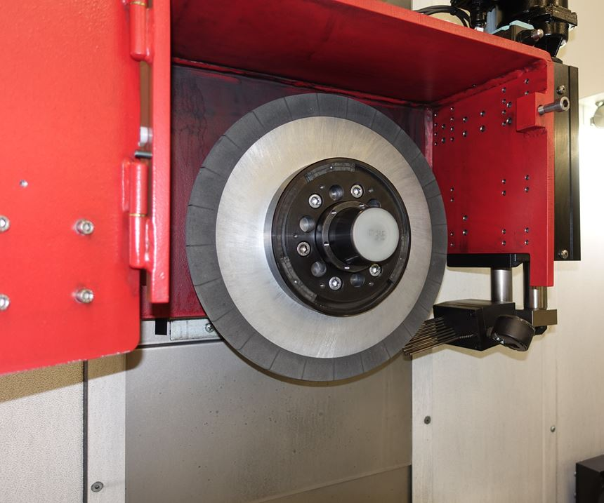 Superabrasive wheels permit creep-feed grinding without continuous dressing
