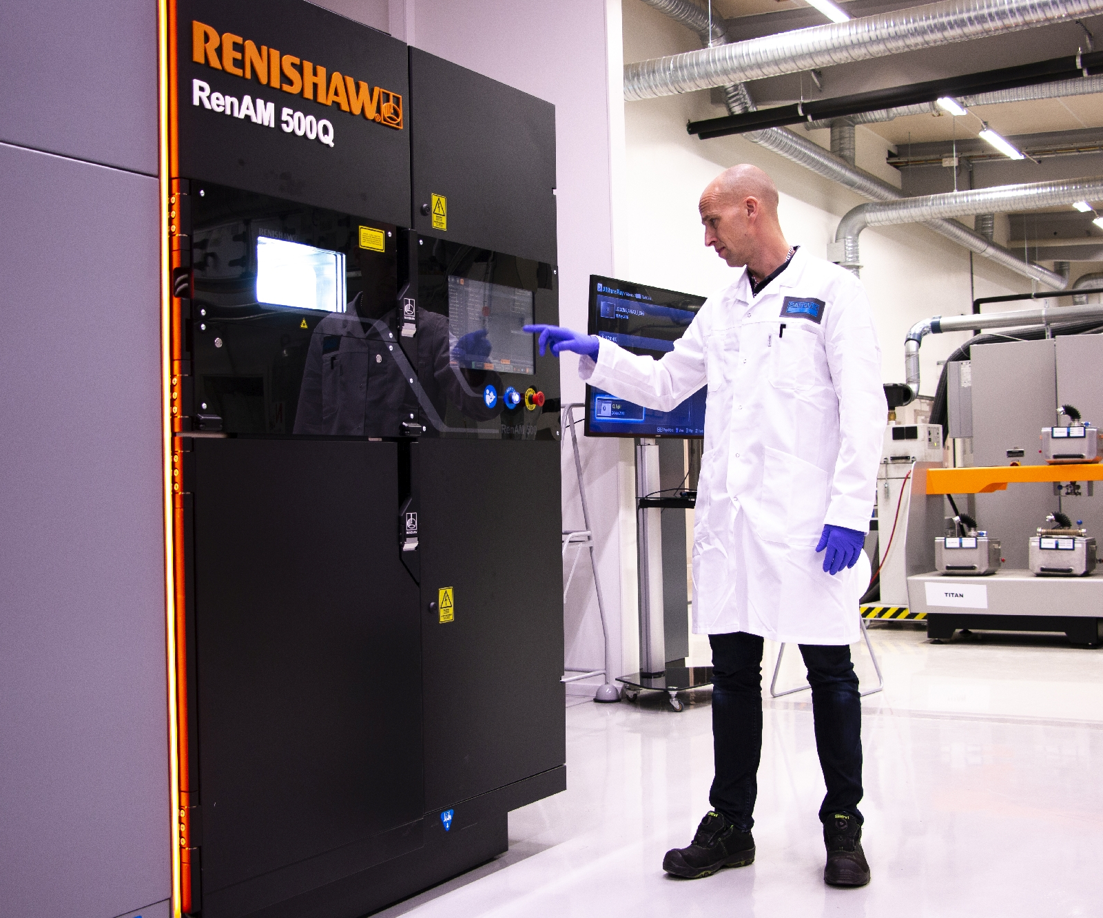 engineer at Renishaw machine