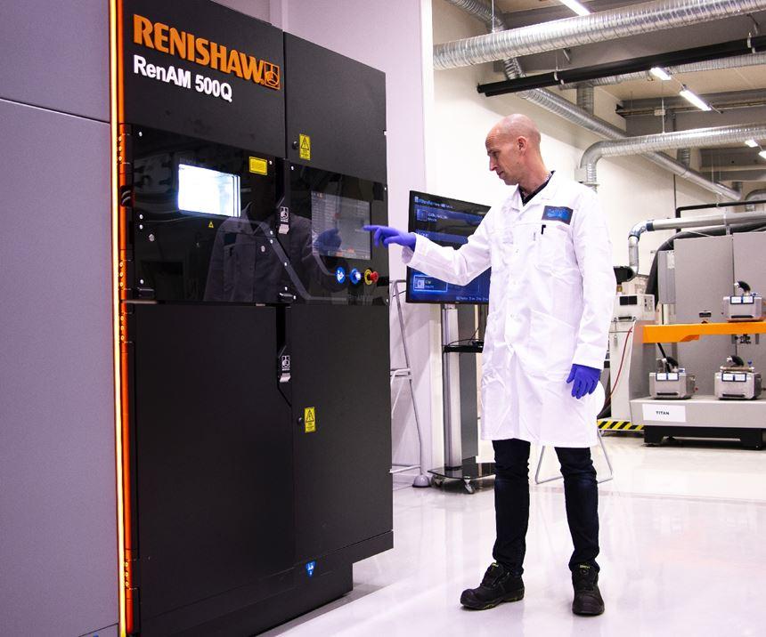 engineer at Renishaw machine