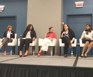 panelists at the Women in Big Data Digital Transformation Conference at IMTS 2018.