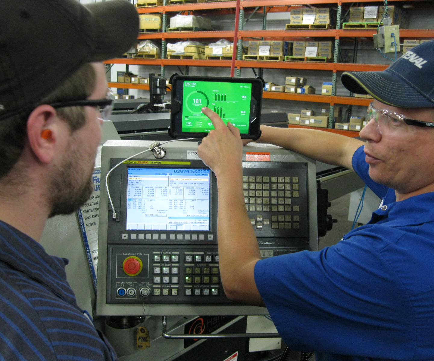 machinists using MachineMetrics