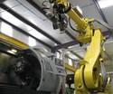 large robot tending CNC machine tool