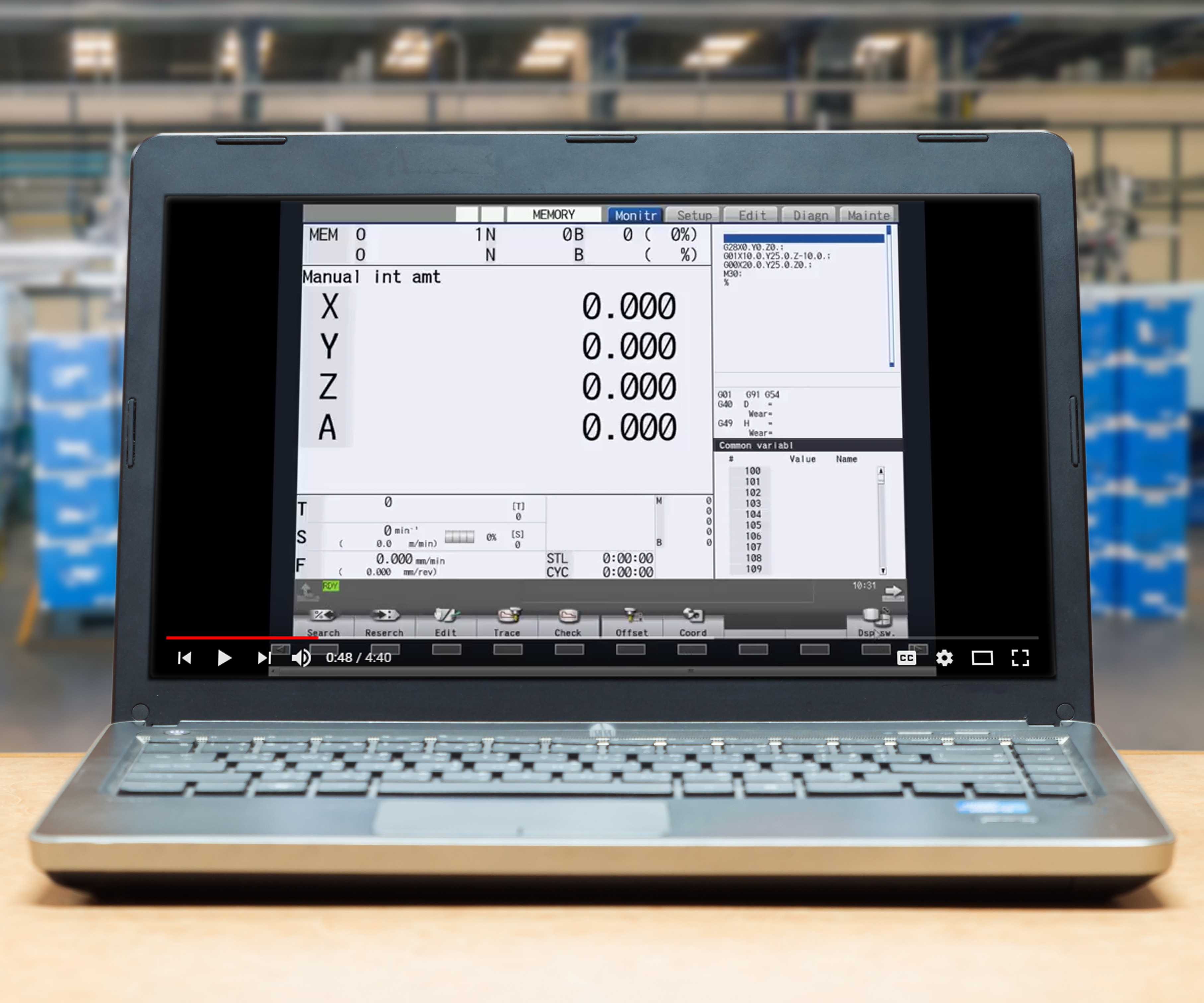 cnc quick pro tips video on a laptop