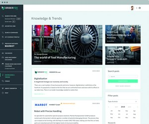 Screenshot of Orderfox.com's Knowledge and Trends section