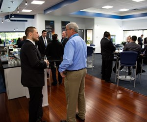 Networking at Haimer open house