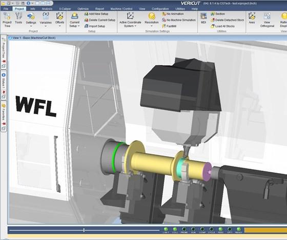 Screenshot of Vericut simularion software