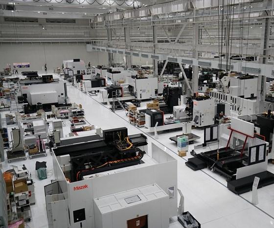 Mazak's new facility in Inabe City, Japan.
