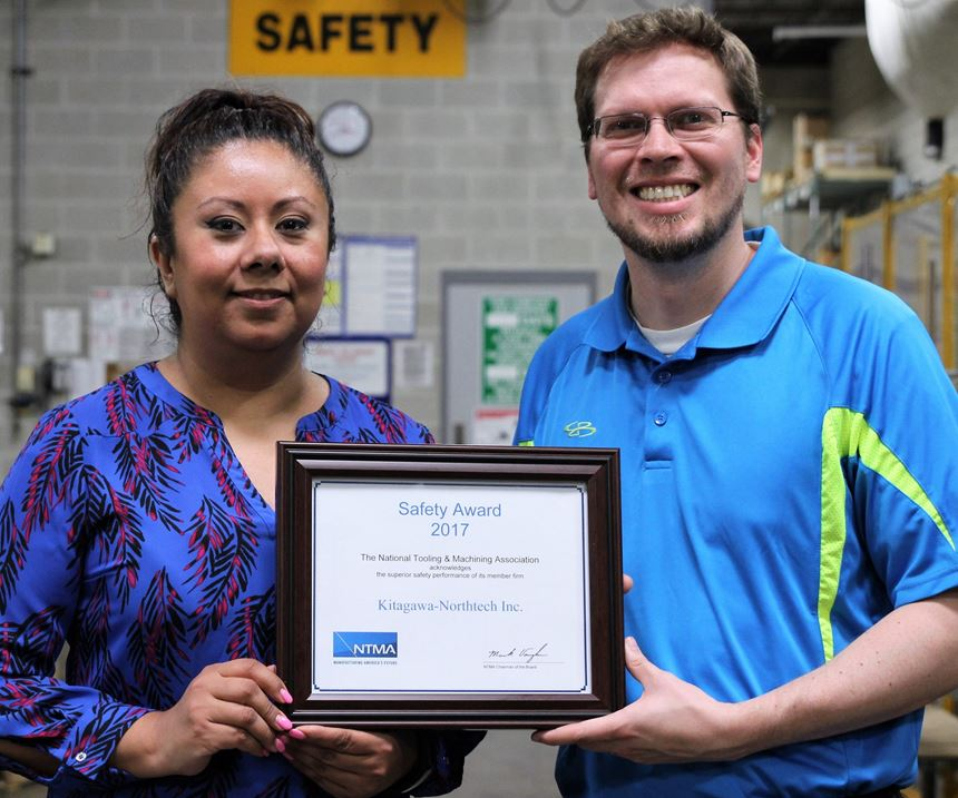 Kitagawa Northtech receives safety award from the NTMA.