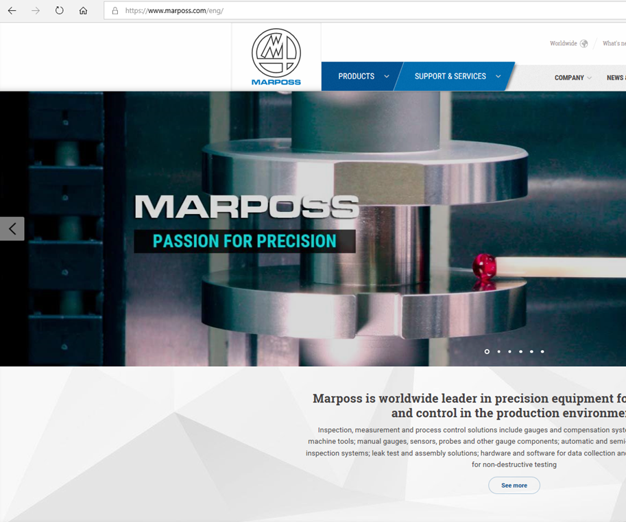 Marposs website