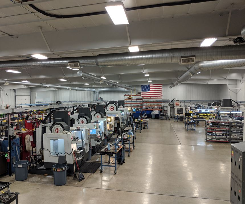 Flying S machine shop with several of its Haas machines