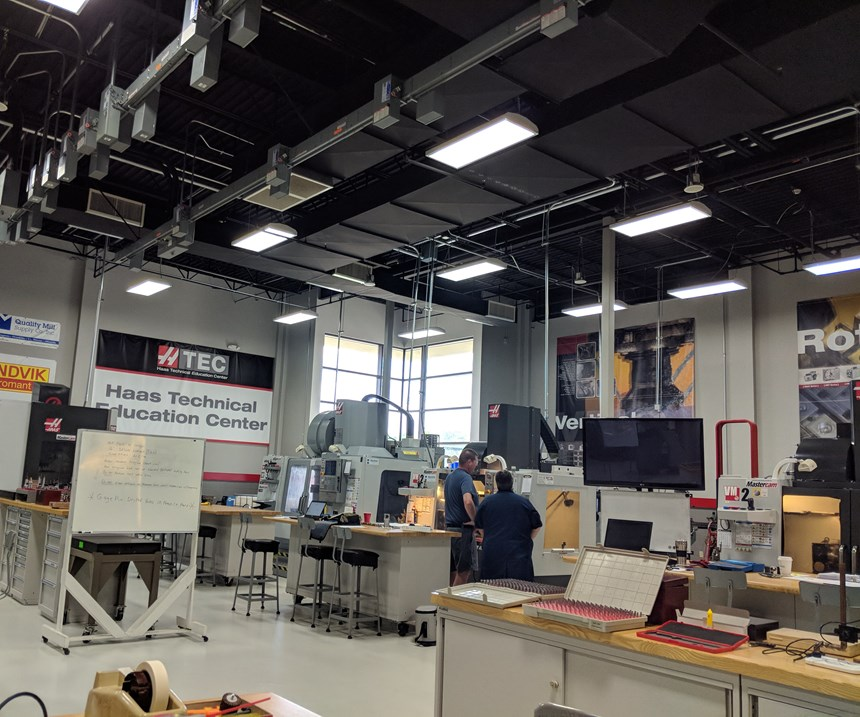 Interior of the Haas Technical Education Center at Vincennes University