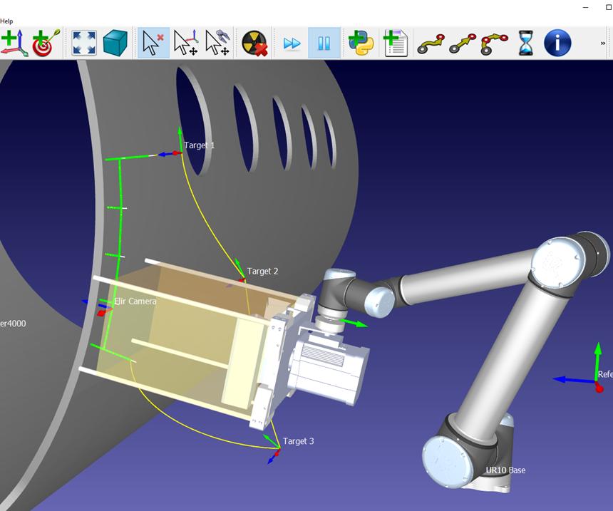 Screenshot of RoboDK programming software