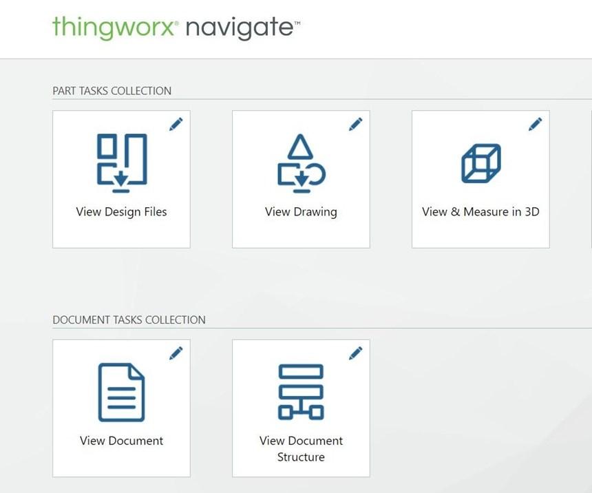 Screenshot of PTC's Navigate app