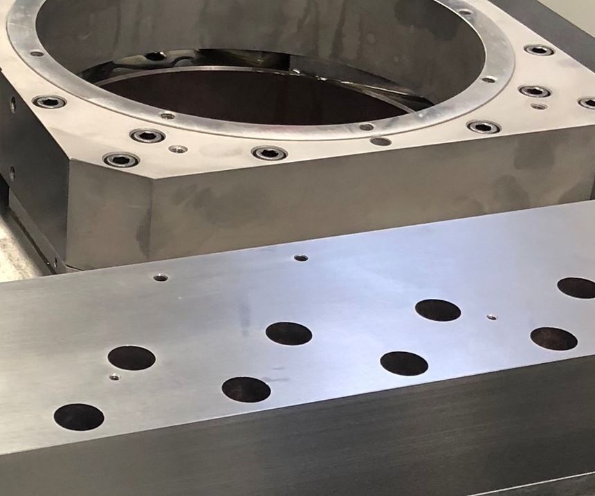 Assembly for a Moore Tools machine