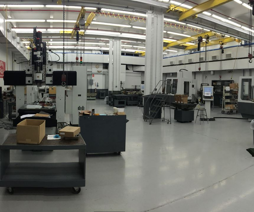 Interior of Moore Tool's facility