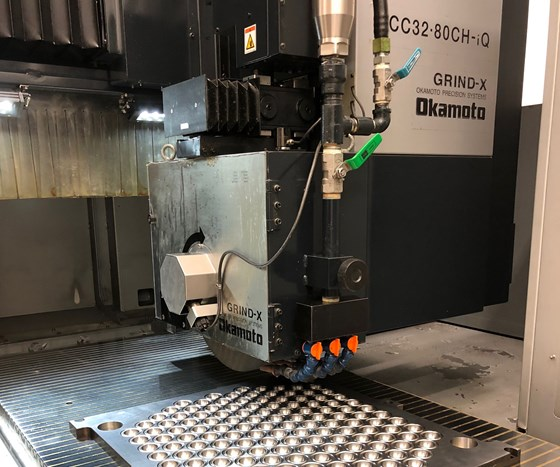 Mold plate on ACC3280 surface grinder