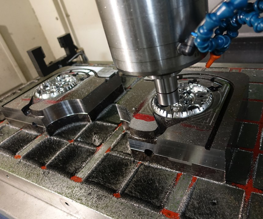 Hard milling a die for a gas stove component