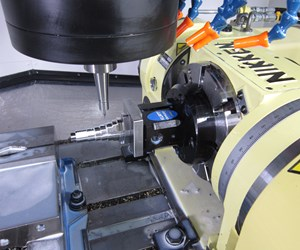 A part on a Nikken rotary table in a VMC