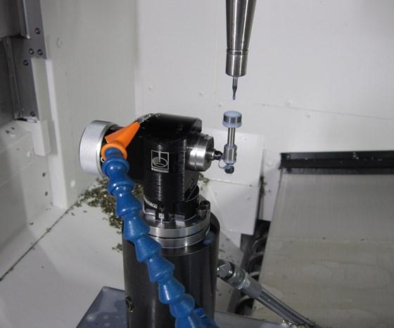 Renishaw tool breakage detection probe inside a machine