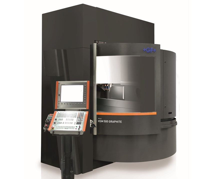GF Machining Solutions' high-speed Mikron MillS 400/500 Graphite and Mikron HSM 500 Graphite