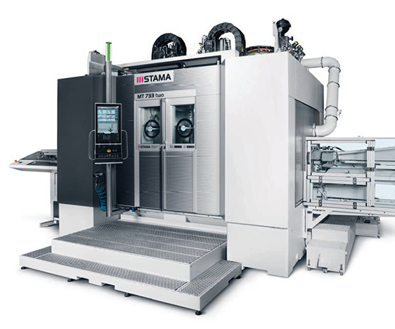 Stama's MT 733-series vertical-spindle mill-turn centers.