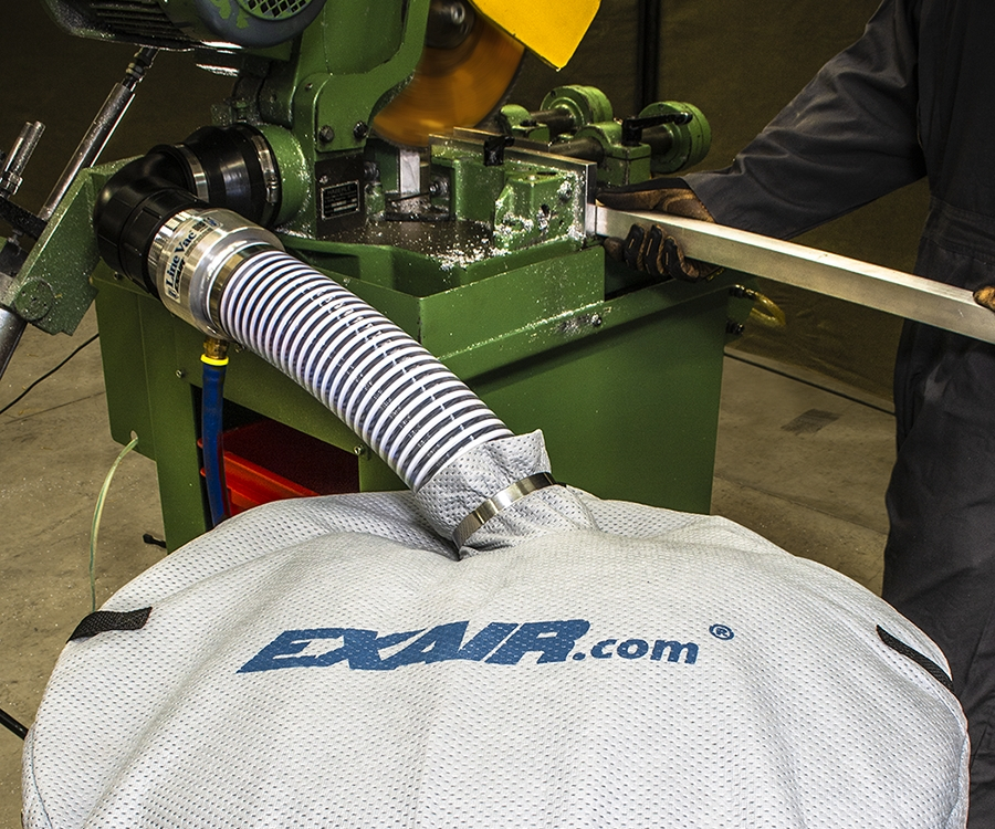 Exair's drum cover and Line Vac.