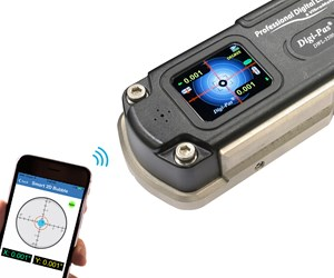Digi-Pas two-axis wireless Smart Machinist level from Digipas