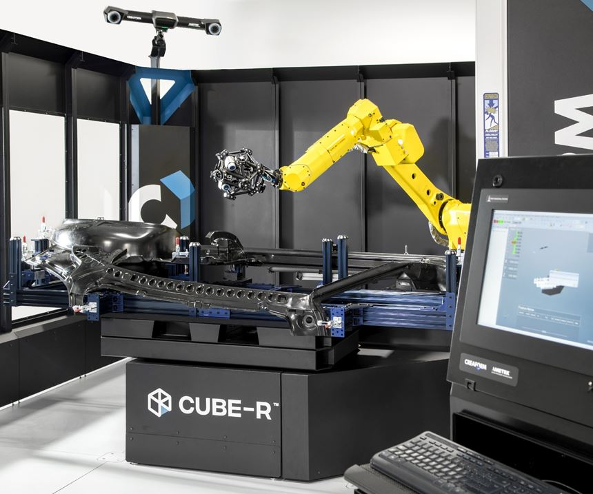 Creaform Cube-R automated industrial measuring cell