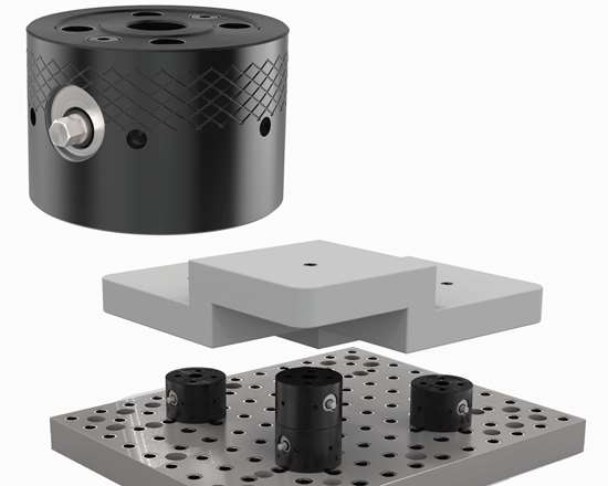 Drop zero clamping system