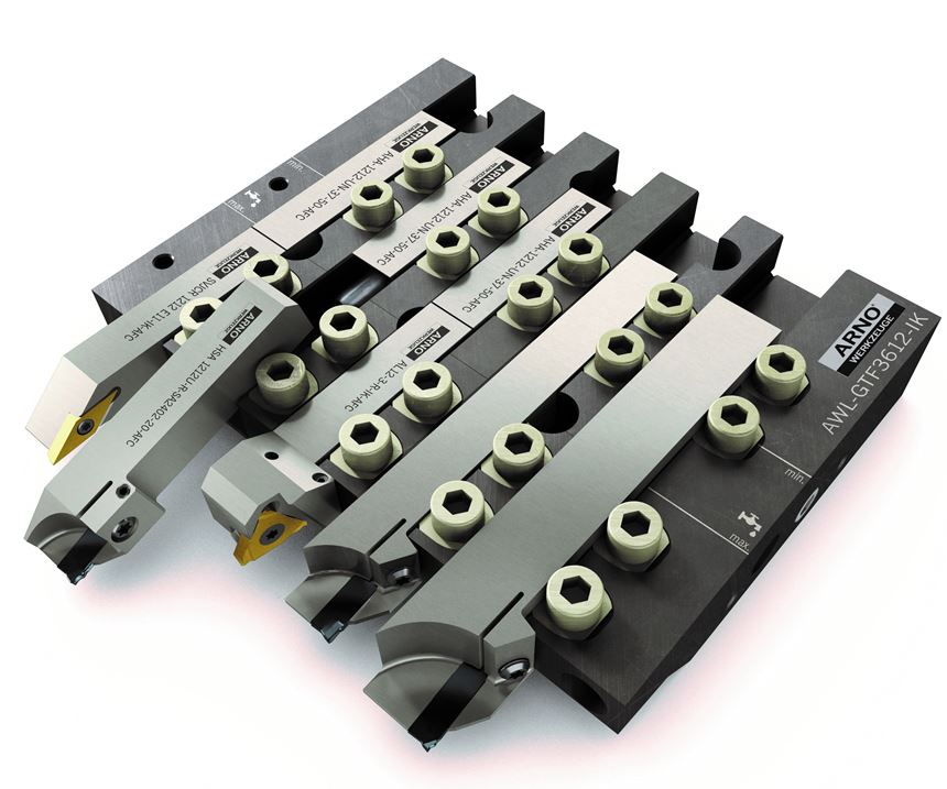 Arno USA's AFC tool system for Swiss-type machining.