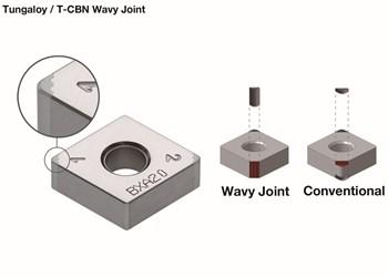 Tungaloy WavyJoint cBN turning inserts