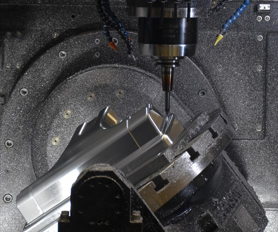 five axis machining of die with circle segment tool