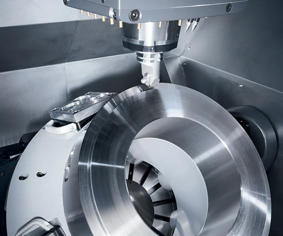 Five-axis machining drastically reduces machining time and total setup.