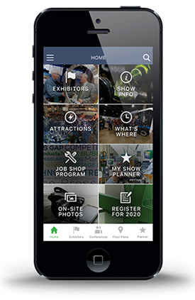 Find the MyShow Planner as a feature of the IMTS app, now available free for iOS and Android devices.