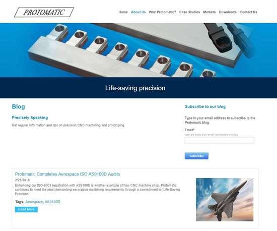 protomatic machine shop blog page